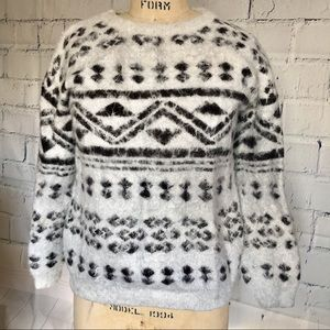 Forever 21 Tribal Chunky Hair Knit Sweater